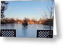 Satin Ice Covered Snow Greeting Card