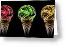 Ice Cream Cones 5 Flavors Greeting Card
