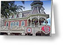 Ice Cream Parlor Main Street Walt Disney World Greeting Card