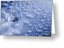 Ice Cube With Copyspace Greeting Card