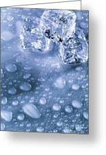 Ice Cubes With Copyspace Greeting Card