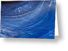 Ice Curve In Blue Greeting Card