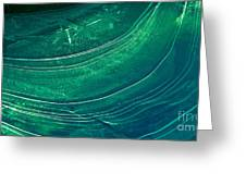 Ice Curve In Green Greeting Card