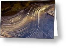 Ice Curve Greeting Card