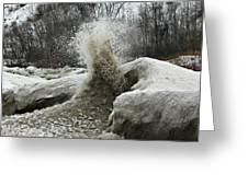 Ice Eruption Greeting Card