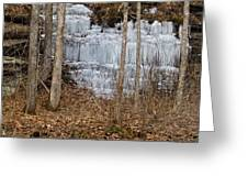 Ice Falls Greeting Card