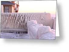 Ice Fence Greeting Card