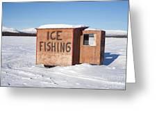 Ice Fishing Hut Greeting Card
