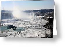 Ice Flows At Niagara Greeting Card