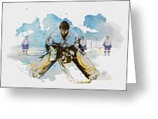 Ice Hockey Greeting Card by Corporate Art Task Force