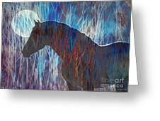 Ice Horse Greeting Card