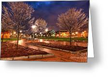 Ice In The Park - Greensboro Greeting Card