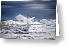 Ice In The Sea Greeting Card