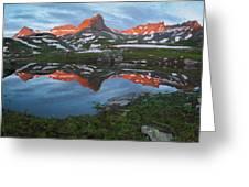 Ice Lakes Alpenglow Greeting Card