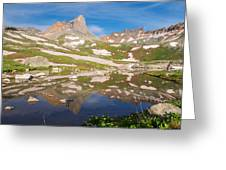 Ice Lakes Reflection Greeting Card