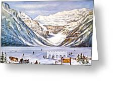Ice Magic-lake Louise Winter Festival Greeting Card