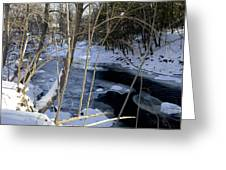 Ice On The Creek Greeting Card
