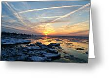 Ice On The Delaware River Greeting Card