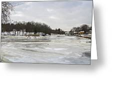 Ice On The Ipswich River Greeting Card
