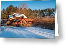 Ice On The Pond Greeting Card