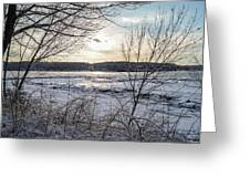 Ice On The Saco River Greeting Card