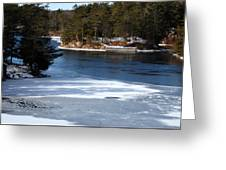 Ice On The St. Lawrence Greeting Card