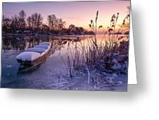 Ice Pier II Greeting Card