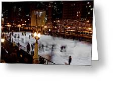 Ice Rink In Chicago  Greeting Card