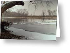 Ice River Greeting Card