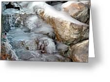 Ice Rock Greeting Card
