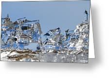 Ice Ships Greeting Card
