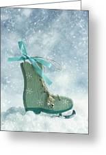 Ice Skate Decoration Greeting Card