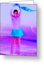 Ice Skater Abstract Greeting Card