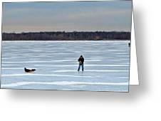 Ice Skipper Greeting Card