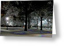 Ice Storm At Keeneland Greeting Card