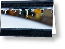 Ice Teeth On Colors Greeting Card