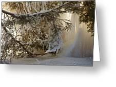 Ice Wall Greeting Card