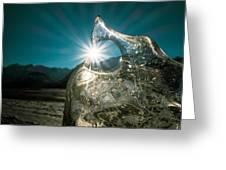 Ice With Sunburst Greeting Card