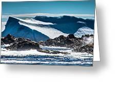 Ice Xix Greeting Card by David Pinsent