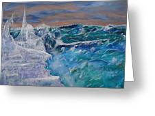 Iceberg Awaits The Titanic Greeting Card