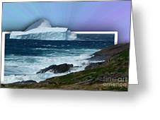 Iceberg Escape Greeting Card by Barbara Griffin