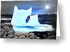Icebergs At Sunset Greeting Card