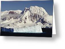 Icebergs Northern Tip Of The Antarctic Greeting Card