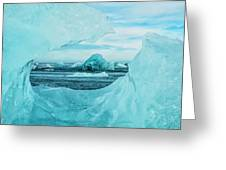Icebergs On The Southern Beach Greeting Card