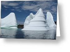 Icebergs Greeting Card