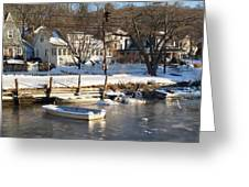 Icebound Harbor Greeting Card