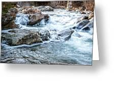 Iced Creek Greeting Card