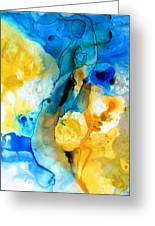 Iced Lemon Drop - Abstract Art By Sharon Cummings Greeting Card