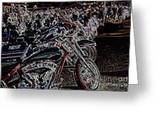 Iced Out Bikes Greeting Card
