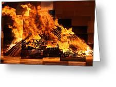 Iceland Bonfire Greeting Card